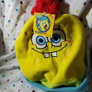 Spongebob/Patrick reversible fleece hat